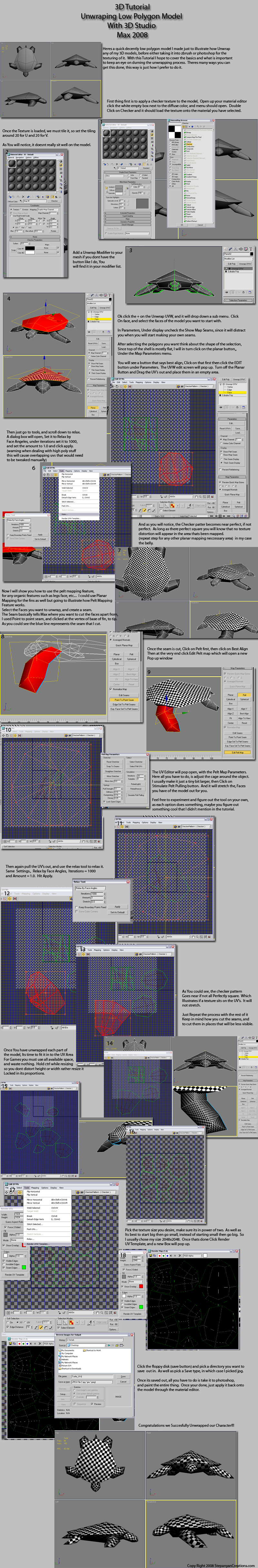 3d max unwrap tutorial by 3d asuarus on deviantart for 3d max tutorial