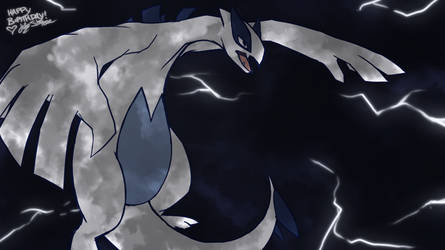 A Lugia for a Birthday by WeavileShonee