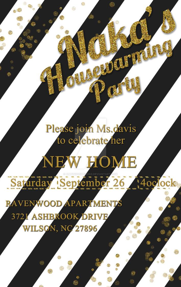 Glitter Housewarming Party by AmbitiousDesignz