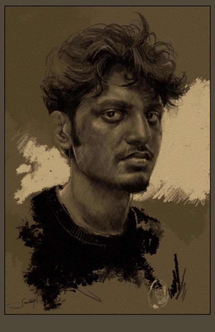 sanpaiya's self-portrait