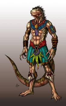 Iguana Warrior Colored