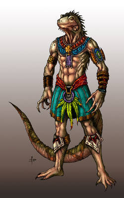 Iguana Warrior Colored