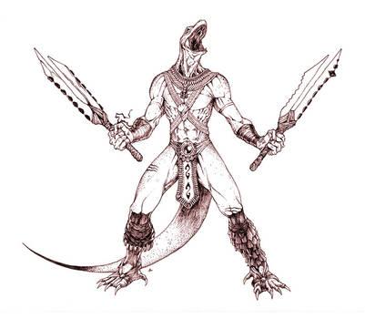 Aztec Komodo Warrior...