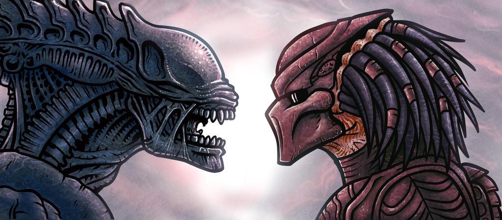 Alien vs. Predator by edcomics
