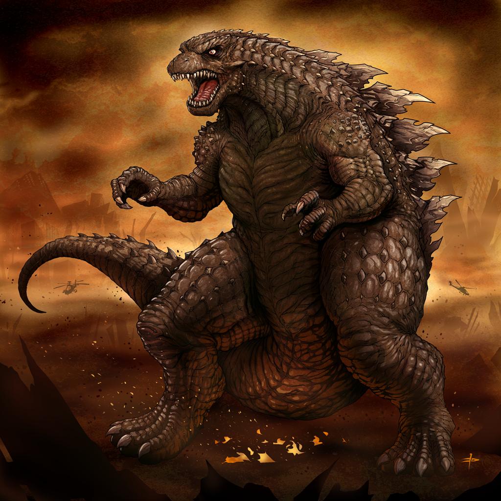 Godzilla 2014 by edcomics