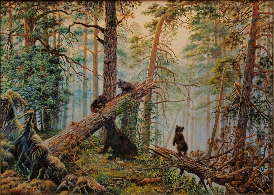 Morning in the pine forest by wojciech wierzynski