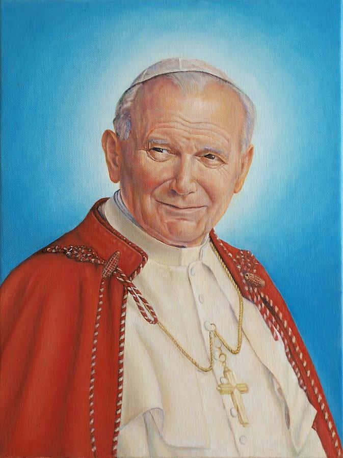 John Paul II by Wojciech-Wierzynski