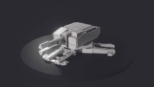 Combat Turret - Printable Model