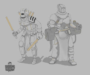 Miners [Arkham] sketch.