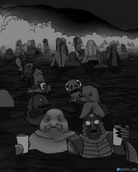 Party at Doom Lagoon by JessiArts