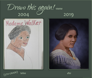 Draw this again: Madam C.J. Walker by JessiArts