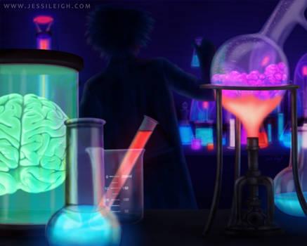 Laboratory | Drawlloween Day 14