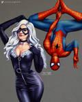 Black Cat and Spiderman