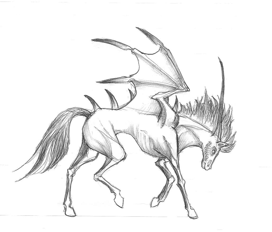 Grim Horse Walking By Chaos Flower On DeviantArt