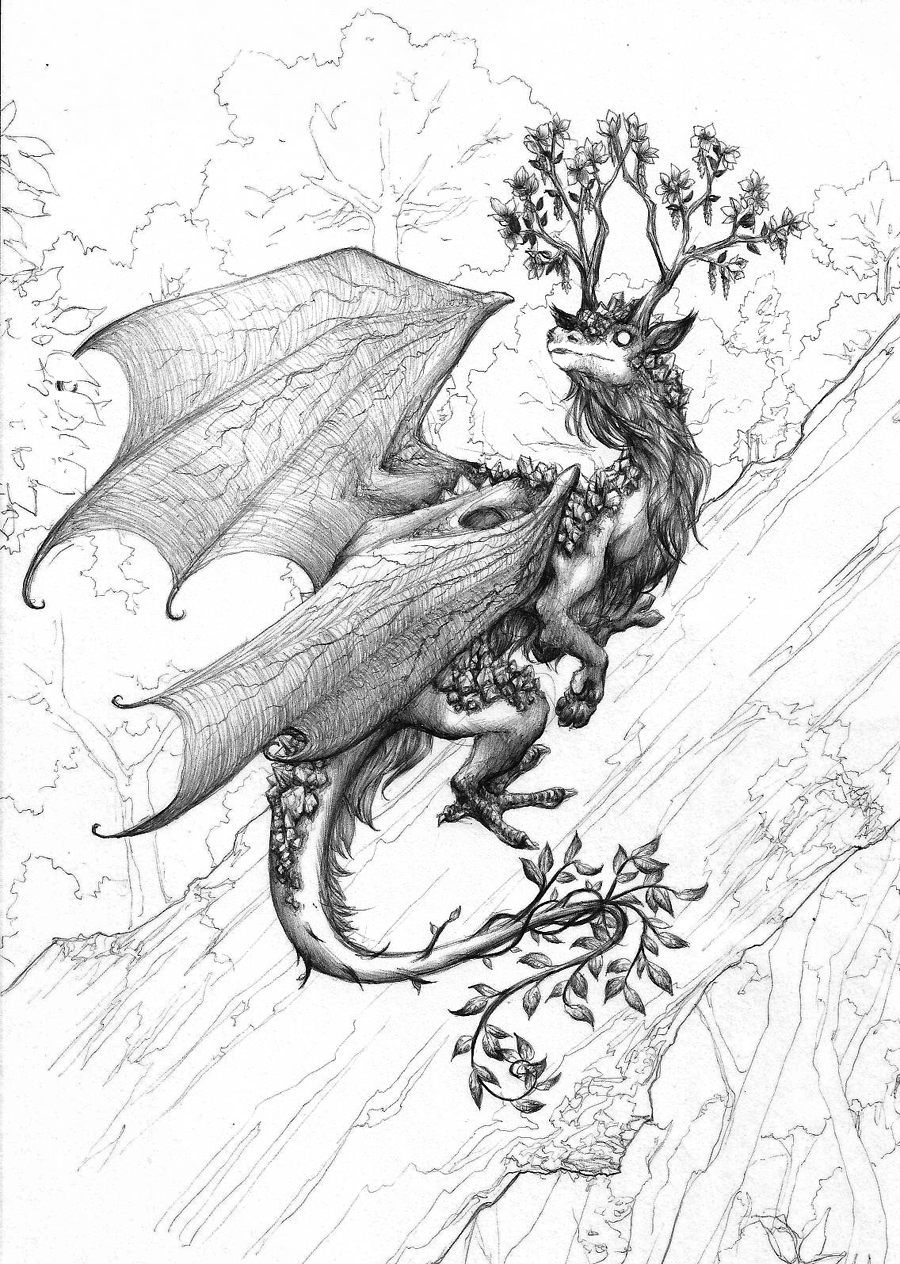 Forest Dragon By Chaos Flower On Deviantart