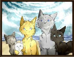 Cat family - redo by Aowna