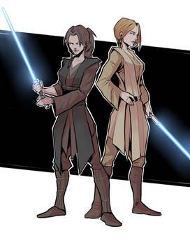 Fem Obi-Wan and Anakin
