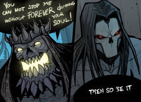 Death vs Absalom by HolyVarus