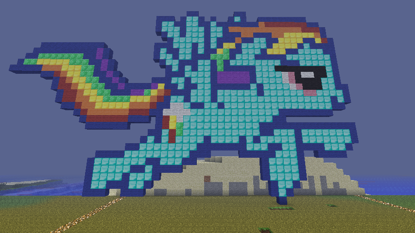 Rainbow Dash Pixel Art by ShaunaMarieDonovan