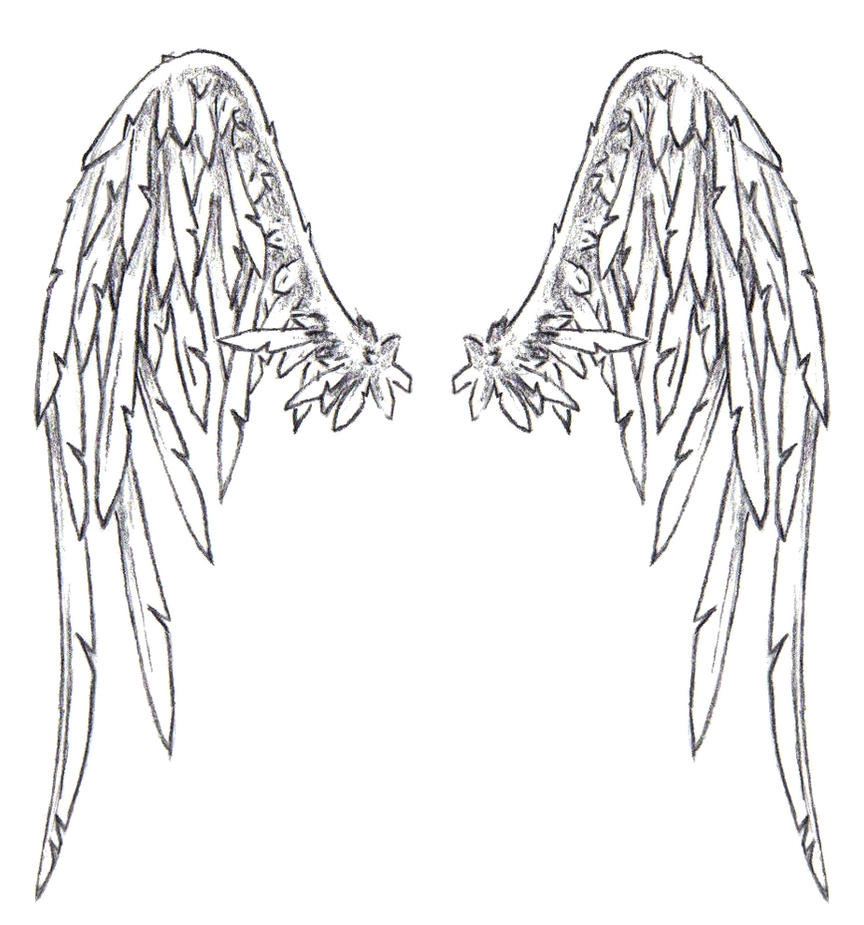 Both good and bad angel tattoo