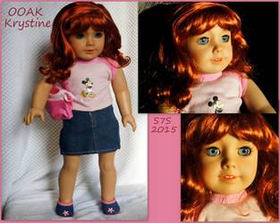 OOAK American Girl doll Krystine, WIP by wylf