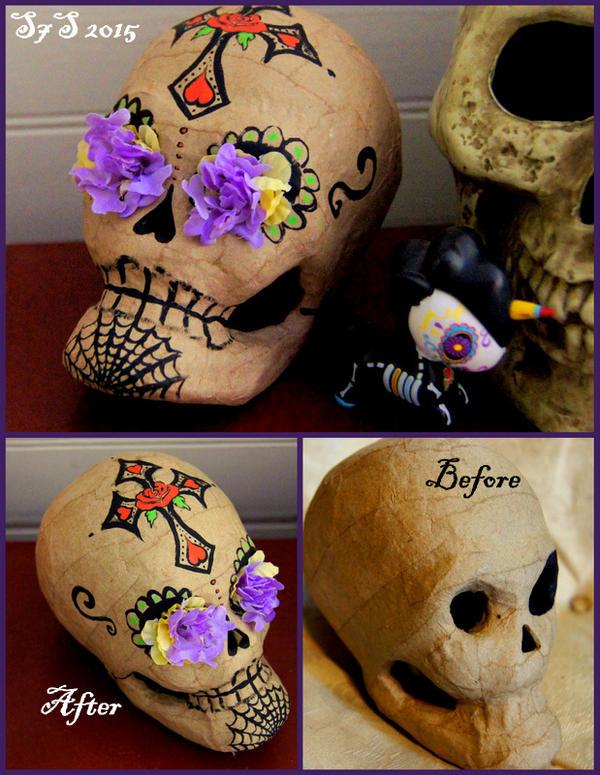 OOAK DotD Paper Skull by wylf