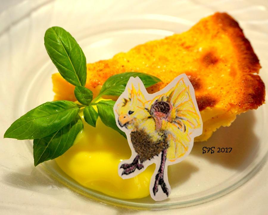 Golden Chocobo Tart by wylf
