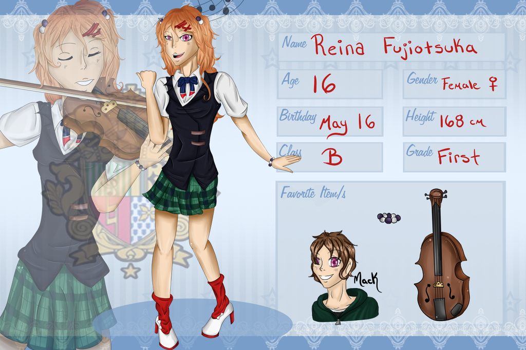Reina Fujiotsuka Application by MelodicSoul