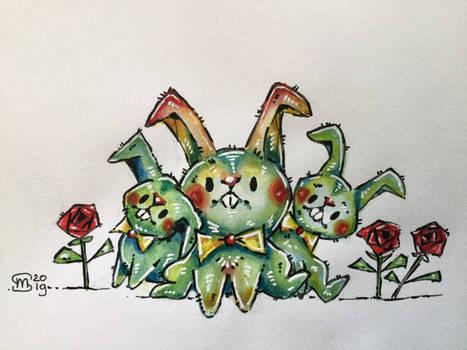Colorful bunnys
