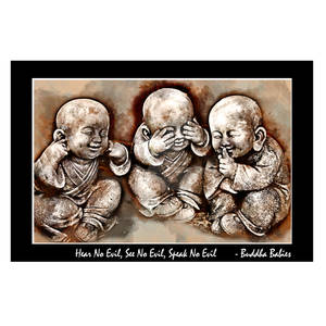 Buddha Babies Watercolour Quote