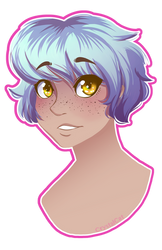 Blue Hair lineless
