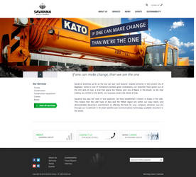 Web Design for Savanna Group of Companies by cactimedia