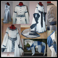 Medieval Wedding Dress Commiss by Elandria