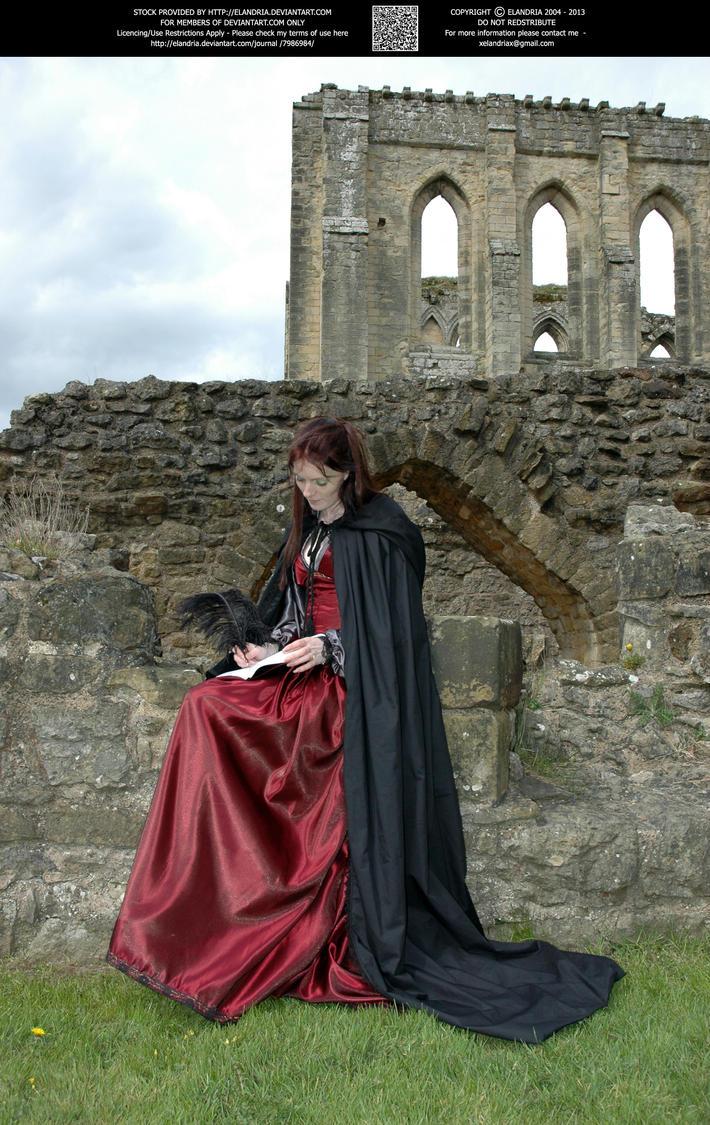 Rievaulx Abbey Ind Red 22 by Elandria