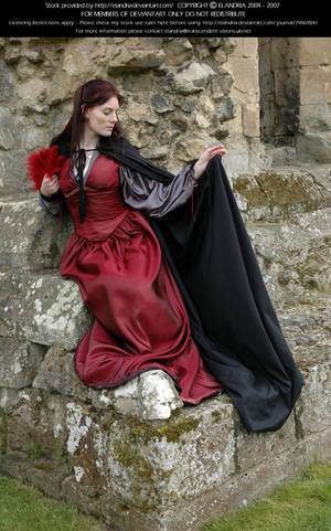 Rievaulx Abbey Ind Red 29 by Elandria