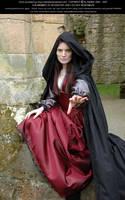 Rievaulx Abbey Ind Red 35 by Elandria
