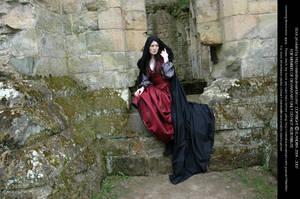 Rievaulx Abbey Ind Red 36 by Elandria