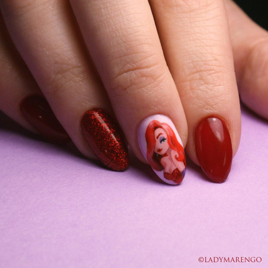 Jessica Rabbit NAils by ladymarengo on DeviantArt