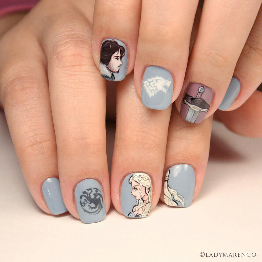 Game of thrones Nails by ladymarengo on DeviantArt
