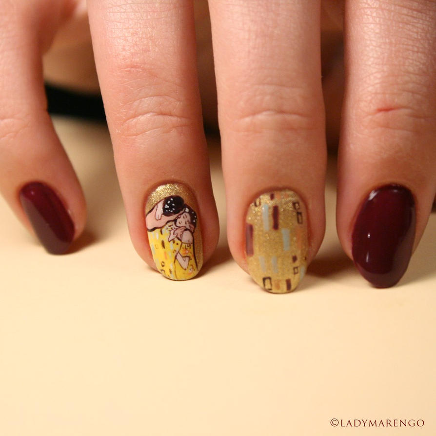 Klimt The Kiss Nails by ladymarengo on DeviantArt