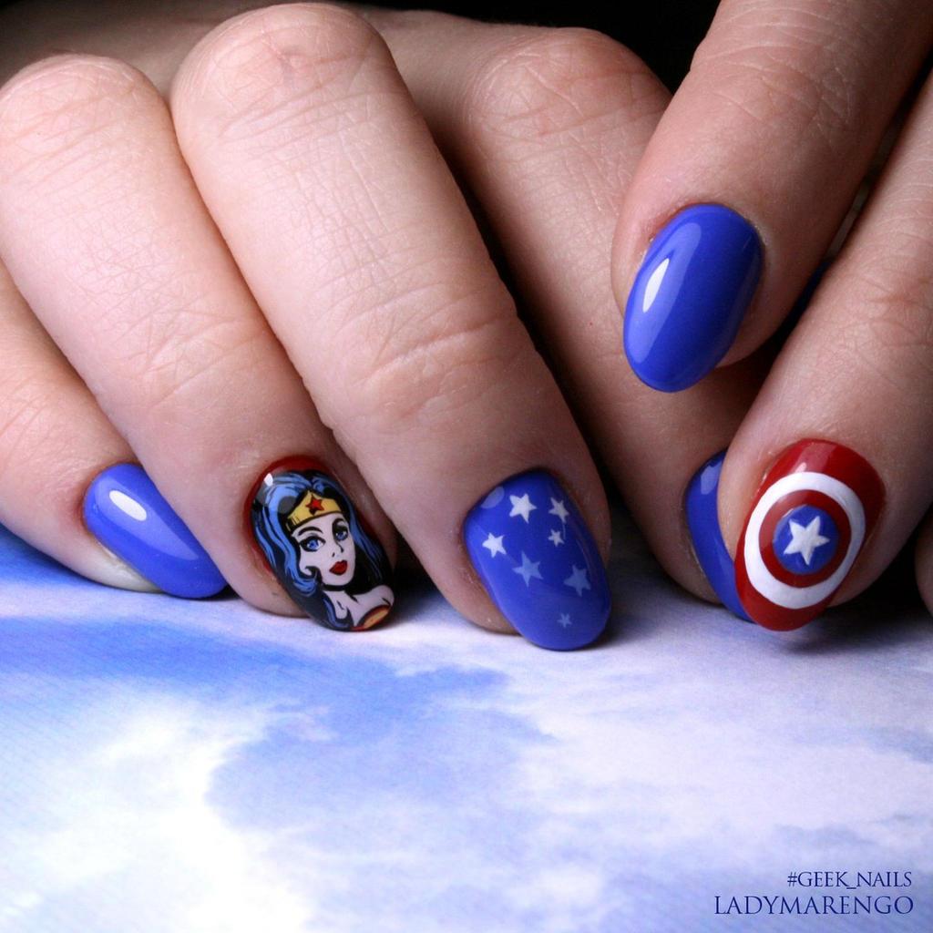 Wonder Woman Nail Art: Wonder Woman Nailart By Ladymarengo On DeviantArt