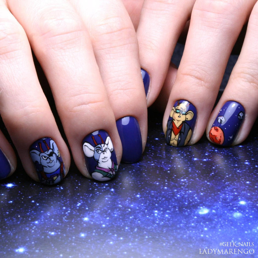 Biker Mice Nailart By Ladymarengo On Deviantart