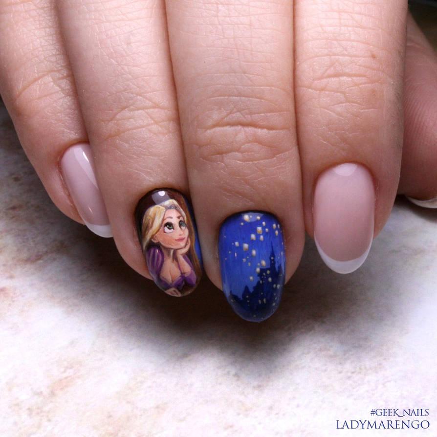 Rapunzel nailart by ladymarengo on DeviantArt