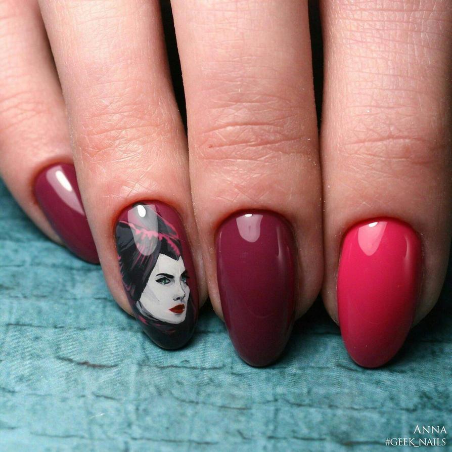 Maleficent nailart by ladymarengo on DeviantArt