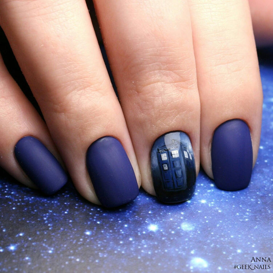Tardis Nailart By Ladymarengo On Deviantart
