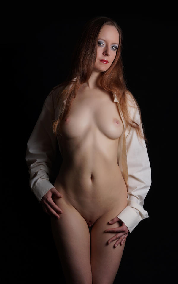 white shirt by BlackOldCat