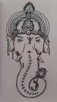Lord Ganesh pencil drawing