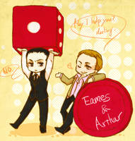Eames and Arthur (Inception) by toyjoypop