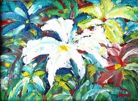 Jungle Flowers by HeinVDMArtist