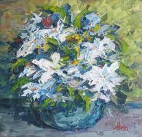 Floral Impasto by HeinVDMArtist